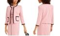 Nine West Contrast-Piping Jewel-Neck Jacket