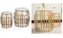 StyleCraft Gold Cage 2pc Nesting Table