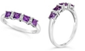 Macy's Gemstone and Diamond Accent Ring in Sterling Silver