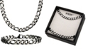 "INOX Figaro Link 8"" Bracelet and 22"" Necklace Set"