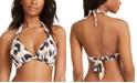 Bar III Leopard Printed Halter Bikini Top, Created for Macy's