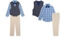 Nautica Toddler Boys 4-Pc. Oxford Vest Set