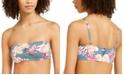 Roxy Juniors' Floral-Print Underwire Bandeau Bikini Top