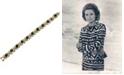 Grace Kelly Collection 18k Gold Plated Emerald Kisses Bracelet