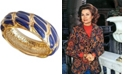 Grace Kelly Collection 18k Gold Plated Enamel Woven Ring
