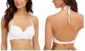 SUNDAZED Nixie Underwire Ruffled Halter Bikini Top, Created for Macy's