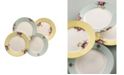 Aynsley China Archive Rose Plates, Set of 4