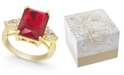 Charter Club Gold Plate Crystal & Stone Ring, Created for Macy's