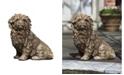 Campania International Fluffy Dog Garden Statue
