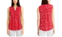 Charter Club Floral-Print Pintuck Top, Created for Macy's