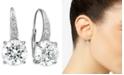 Giani Bernini Cubic Zirconia Leverback Earrings in Sterling Silver, 18K Gold Over Sterling Silver or 18k Rose Gold Over Sterling Silver, Created for Macy's