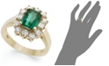 Macy's 14k Gold Ring, Emerald (1-5/8 ct. t.w.) and Diamond (3/4 ct. t.w.) Ring