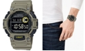 Casio Men's Digital Khaki Resin Strap Watch 48.4mm