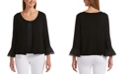 Rafaella 3/4 Sleeve Shrug with Lace Cuffs