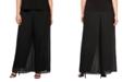 Alex Evenings Plus Size Straight-Leg Overlay Pants