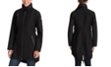 Michael Kors Faux-Leather-Trim Hooded Raincoat