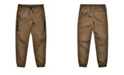 Ring of Fire Big Boys Stretch Twill Jogger with Moto Detailing and Side Heat Seal Zippers