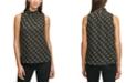 Calvin Klein Printed Mock-Neck Sleeveless Top