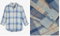 Lucky Brand Cotton Plaid Utility Shirt