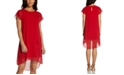 Adrianna Papell Chiffon Ruffle-Front Shift Dress