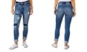Indigo Rein Juniors Distressed Roll Cuff Skinny Jeans