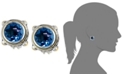 EFFY Collection Balissima by EFFY® Blue Topaz Round Stud Earrings (7-5/8 ct. t.w.) in 18k Gold and Sterling Silver
