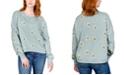 Rebellious One Juniors' Printed Daisy Sweatshirt