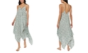 Jessica Simpson Snake Eyes Laced-Front Cover-Up Dress