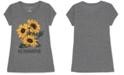 Love Tribe Juniors' Sunflower Graphic T-Shirt