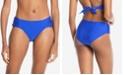 RACHEL Rachel Roy Boardwalk Basics Ruched-Side Bikini Bottoms