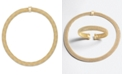 Italian Gold Mesh Collar Necklace in 14k Vermeil over Sterling Silver