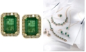 EFFY Collection Brasilica by EFFY® Emerald (1-9/10 ct. t.w.) and Diamond (1/4 ct. t.w.) Stud Earrings in 14k Gold, Created for Macy's