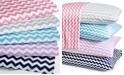 Elite Home Chevron California King 4-pc Sheet Set, 300 Thread Count 100% Cotton