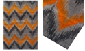 """Dalyn CLOSEOUT! Modern Abstracts Chevron Tangerine 7'10"""" x 10'7"""" Area Rug"""