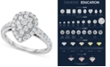 Centennial Diamond Pear Antique-Inspired Engagement Ring (1 ct. t.w.) in 14k White Gold
