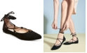 Steve Madden Eleanorr Suede Lace-Up Flats