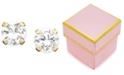 Macy's Children's 14k Gold Cubic Zirconia Stud