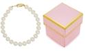 Macy's Children's White Cultured Freshwater Pearl (4-1/2mm) Bracelet