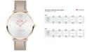COACH Women's Slim Easton Champagne Leather Strap Watch 35mm 14502684