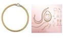 Italian Gold 14k Gold Necklace, Diamond Spiga (1/8 ct. t.w.)