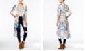 American Rag Printed Crochet-Trim High-Low Kimono, Created for Macy's