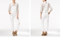 American Rag Ripped One White Wash Overalls, Created for Macy's