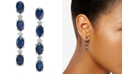 Macy's Blue Sapphire (4-3/4 ct. t.w.) & White Sapphire (1/5 ct. t.w.) Drop Earrings in Sterling Silver, Created for Macy's