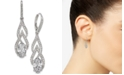 Eliot Danori Silver-Tone Crystal & Pavé Drop Earrings, Created for Macy's