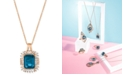 Le Vian Deep Sea Blue Topaz™ (3-1/3 ct. t.w.) & Diamond (1/3 ct. t.w.) Pendant Necklace in 14k Rose Gold