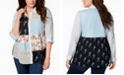 Style & Co Plus Size Patchwork-Print Shirt, Created for Macy's