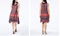 John Paul Richard Petite Printed Asymmetrical Shift Dress