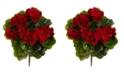 Nearly Natural 4-Pc. Geranium UV-Resistant Indoor/Outdoor Artificial Bush Set