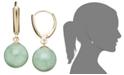 Macy's 14k Gold Earrings, Jade Bead Drop Earrings
