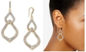 INC International Concepts INC Gold-Tone Pavé Interlocking Link Drop Earrings, Created for Macy's